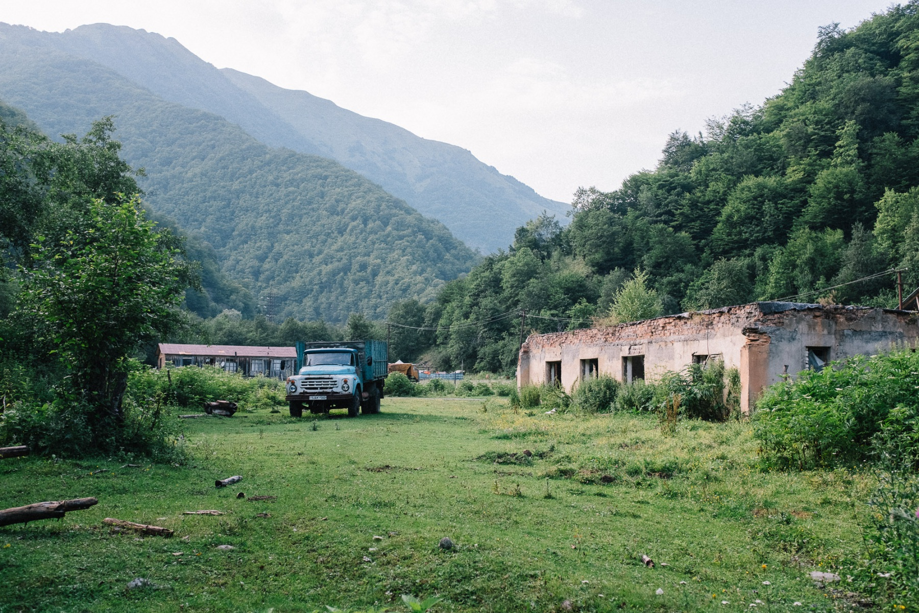 Old Soviet truck in Georgia