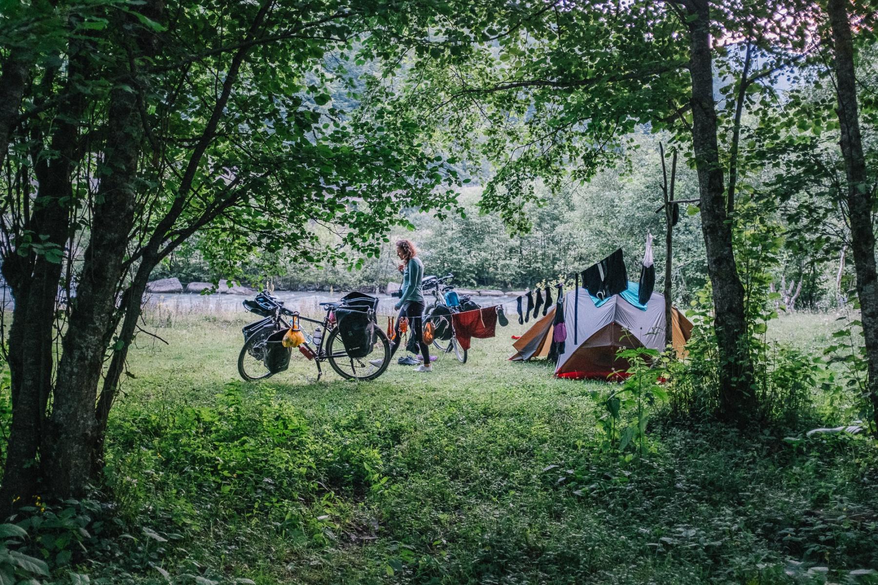 Camping in Korsha, Georgia