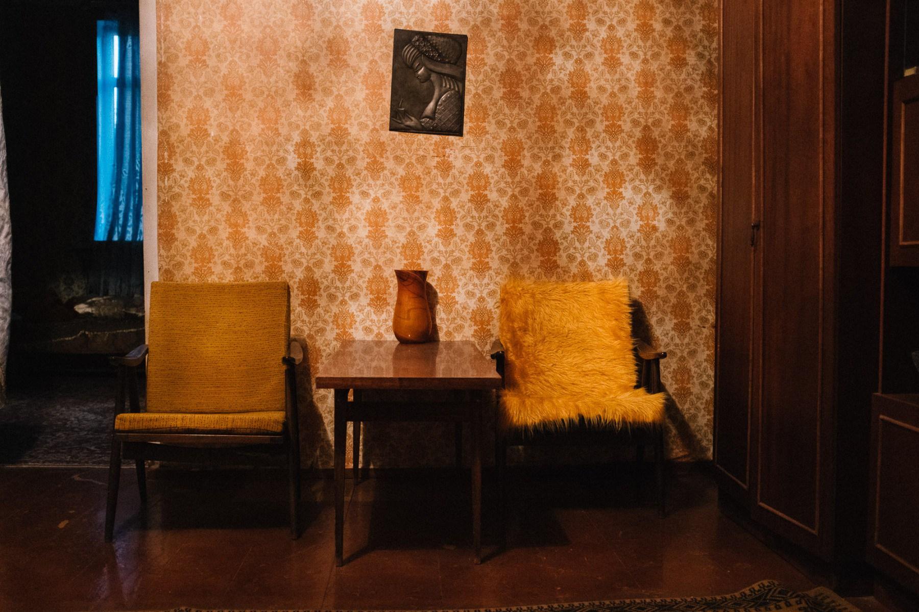 Soviet living room in Georgian house