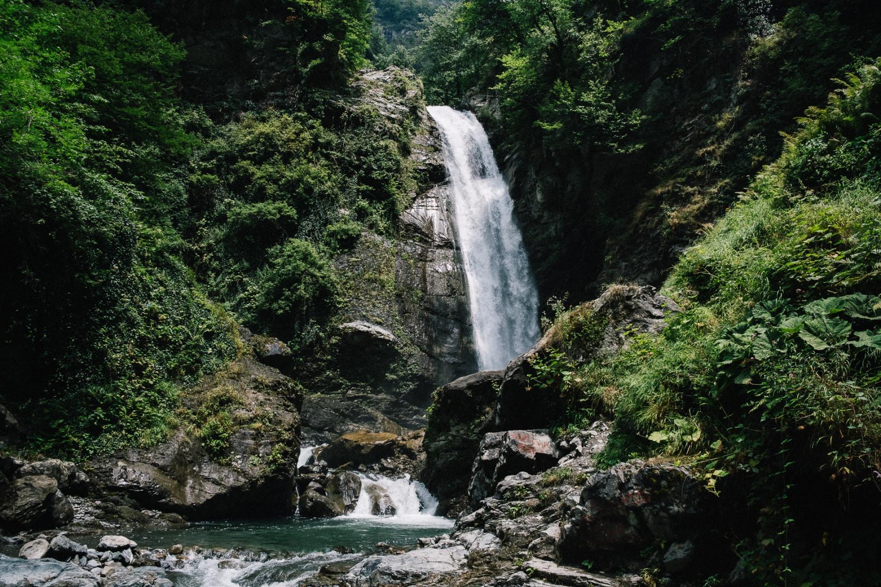 Waterfall near Lagodechi, Georgia